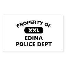 Property of Edina Police Dept Rectangle Decal