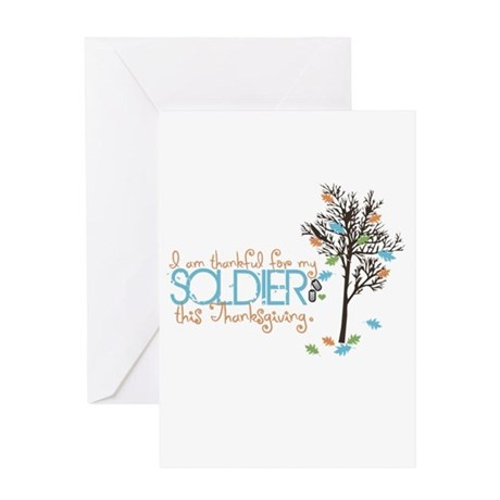 I'm thankful ... Soldier Greeting Card