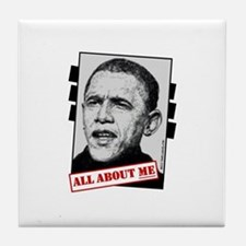 Funny Barrack obama Tile Coaster
