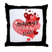 Worlds Best Mom Throw Pillow