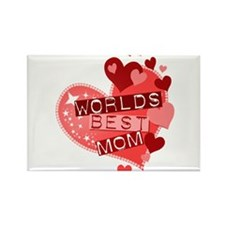 Worlds Best Mom Rectangle Magnet (100 pack)