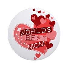 Worlds Best Mom Ornament (Round)