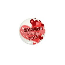 Worlds Best Mom Mini Button (10 pack)