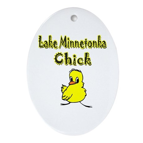 Lake Minnetonka Chick Oval Ornament