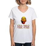 Oba-Mao Tse-Tung Women's V-Neck T-Shirt