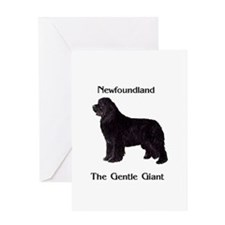 The Gentle Giant Newfoundland Dog Greeting Card