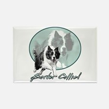 Border Collie Drive Rectangle Magnet