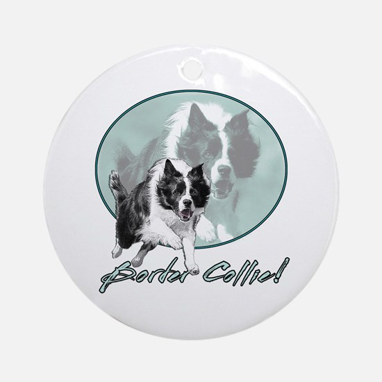 Border Collie Drive Ornament (Round)
