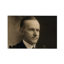 Calvin Coolidge Rectangle Magnet