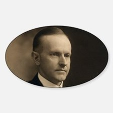 Calvin Coolidge Oval Decal