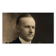 Calvin Coolidge Rectangle Decal