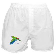 Flying Blue-fronted Amazon Boxer Shorts
