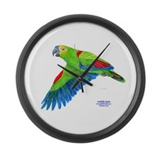 Flying Blue-fronted Amazon Large Wall Clock