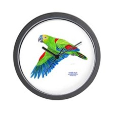 Flying Blue-fronted Amazon Wall Clock