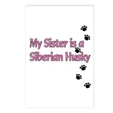 My Sister is a Siberian Husky Postcards (Package o