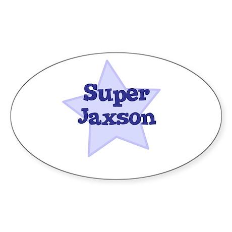 Super Jaxson Oval Sticker