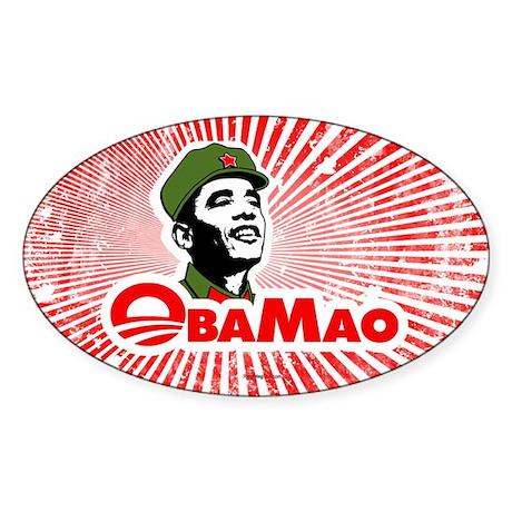 ObaMao Oval Sticker