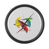 Scarlet macaw Giant Clocks