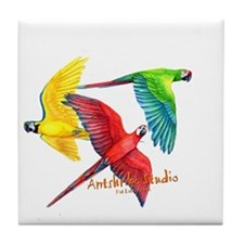 Macaws Tile Coaster