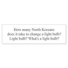 North Korea! Light bulb jokes Bumper Bumper Sticker