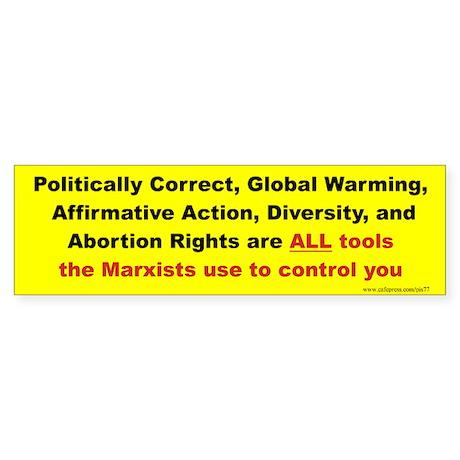 Politically correct, global warming ... tools use