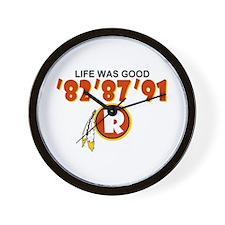 Redskins Wall Clock