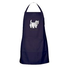 Westie Talk to the Tail Apron (dark)