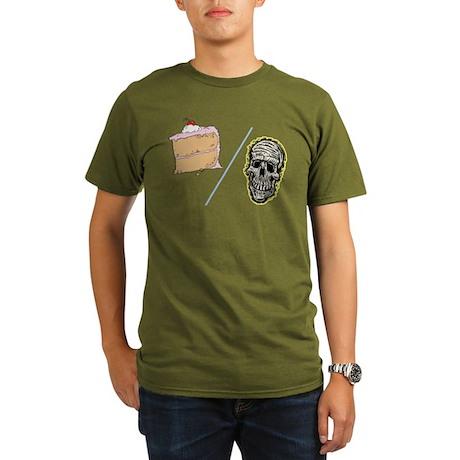 Cake or Death Organic Men's T-Shirt (dark)