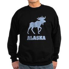 Retro Alaska Moose Sweatshirt