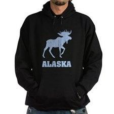 Retro Alaska Moose Hoodie