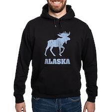 Retro Alaska Moose Hoody