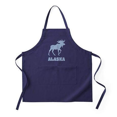 Retro Alaska Moose Apron (dark)