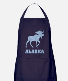 Retro Alaska Moose Apron (dark)