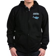 Retro Aruba Shark Zip Hoodie