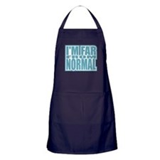 I'm Far From Normal Apron (dark)