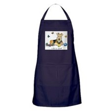 Life is Good Terrier Apron (dark)
