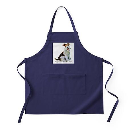 Fox Terrier Happiness Apron (dark)