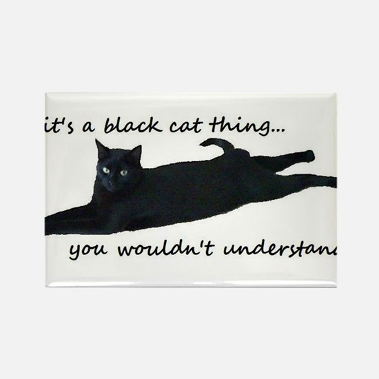 black cat thing Magnets