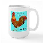 Thank you for Being Vegan Large Mug