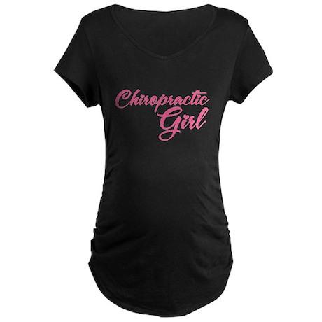 Chiropractic Girl Maternity Dark T-Shirt