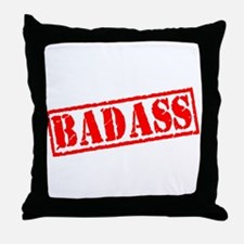 Badass Stamp Throw Pillow