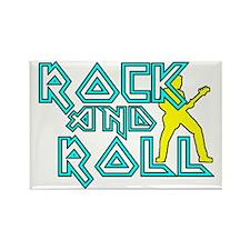 Rock N Roll Rectangle Magnet