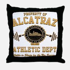 ALCATRAZ ATHLETIC DEPT. Throw Pillow