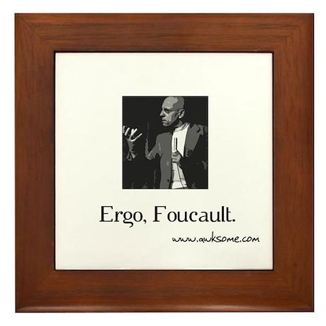 """""""Ergo, Foucault"""" Framed Tile"""