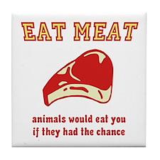 Eat Meat Tile Coaster