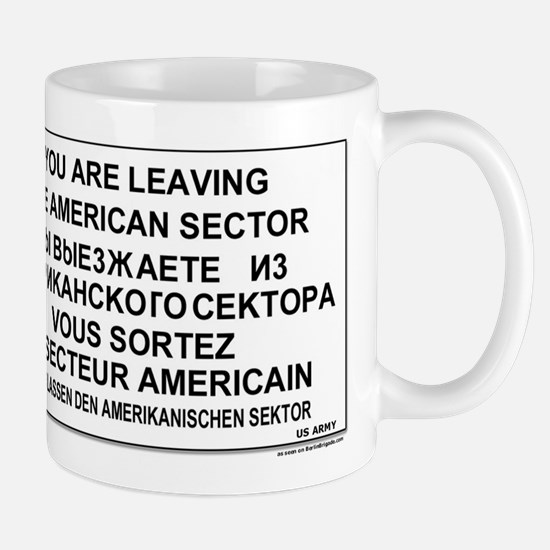 Leaving The American Sector Mug