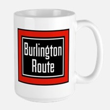 Burlington Route Large Mug