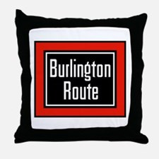 Burlington Route Throw Pillow