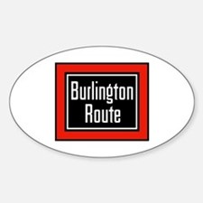 Burlington Route Oval Decal