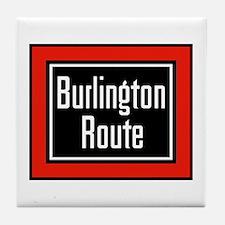 Burlington Route Tile Coaster
